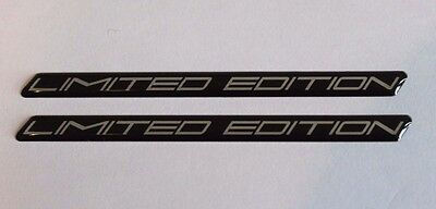 LIMITED EDITION Chrome on Black Slimline HIGH GLOSS DOMED GEL Sticker Decal
