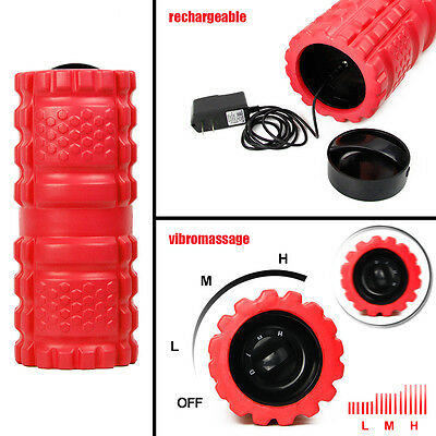 Electric Vibrating EVA Foam Fitness Exercise Roller For Massage Yoga Pilates Gym