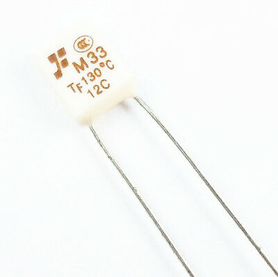5Pcs New  M33 TF 130℃ Thermal Fuse