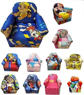 Kids Children Cartoon Character Branded Chair Armchair Sofa Playroom Tv Seat