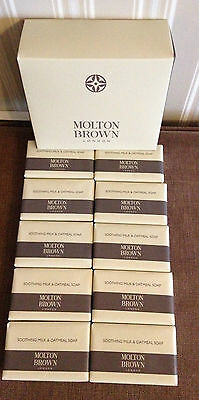 Brand New Wrapped MOLTON BROWN Soothing Milk & Oatmeal Soap 75g x 10 Bars