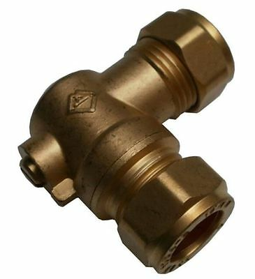 15mm Large Bore Angled Brass Isolation Valve