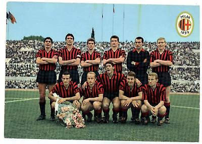 calcio football Cartolina Milan 1964 Ed.Icea con amarildo,rivera