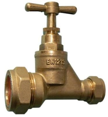 20mm MDPE to 15mm Copper DZR Stopcock