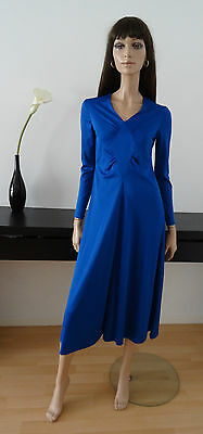 Robe vintage 70's bleue CENTEX FLIPPER studio 54 taille 40 - uk 12 - us 8