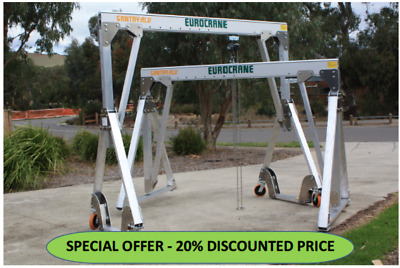 GANTRY CRANE PORTABLE ALUMINIUM  FOLDING - PGAF 120-10 (1495-2245mm) 2M span/1T
