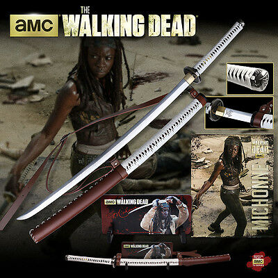 The Walking Dead Michonne Sword w/ Wall Mount (Licensed by AMC) MC-WD001WS NEW