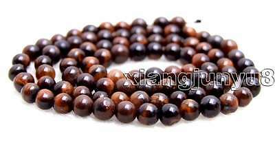SALE small 4mm Round Red natural tiger's-eye gemstone Beads strand-los702