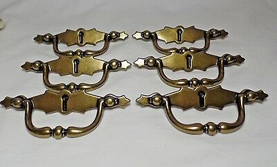 Modern Antiqued Brass Drawer Pulls Ajax 314 Lot of 7