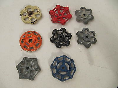 8-Vintage Valve Handles Water Faucet Knobs Steampunk Industrial Cast Metal