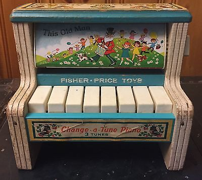 Vintage Fisher Price Change a Tune Piano 910 1969, Muffin Man, This Old Man