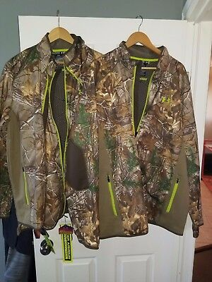 under Armour Men's ColdGear® Infrared Scent Control Jacket Realtree AP Xtra new