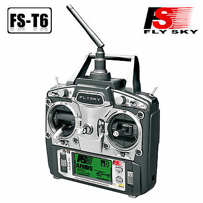 Flysky FS-T6 -RB6 2.4GHz 6 Channel Transmitter for FS RC Helicopter 6CH Radio