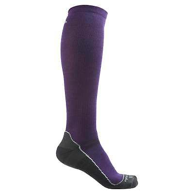 Kathmandu Ergonomic Unisex Merino Blend Durable Hiking Run Trail Socks Purple