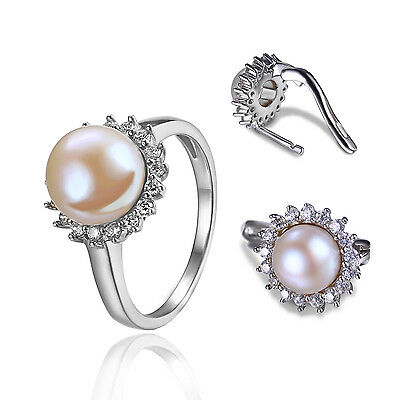 JewelryPalace Geniune Fresh Water Pearl Jewelry Sets Solid 925 Sterling Silver