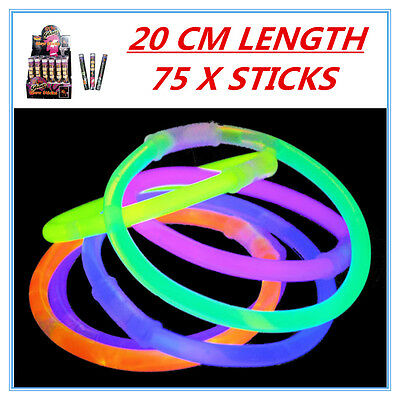 75 X Glow Sticks - Party Wedding Event Birthday Celebrate Concerts Camping Ap