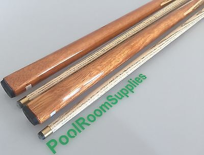 PUB ASH Hard Wood Pool Snooker Billiards Cue Set 2 x Two Piece Cues 11mm tips