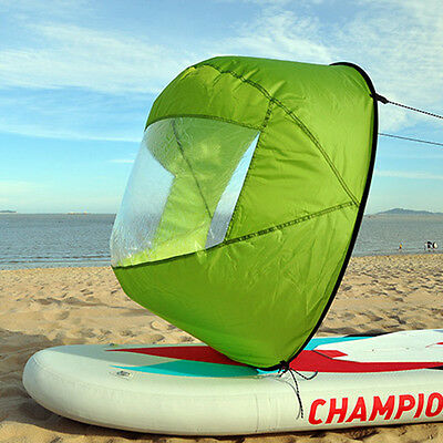 "46"" PVC Portable Downwind Wind Paddle Instant Popup Board Kayak Sail Accessories"