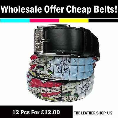 Wholesale Offer Job Lot Mixed 12 Pcs Assorted Sizes Fashion Pyramid Belt PF25