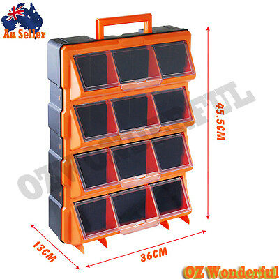 New 12 Drawers Storage Cabinet Tool Box Chest Case Plastic Organizer Toolbox Bin