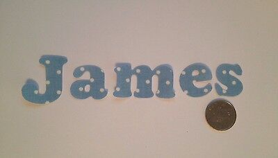 Any 15 Die Cut Iron On Sew On , Glue On Fabric Letters Girls & Boys Personalised