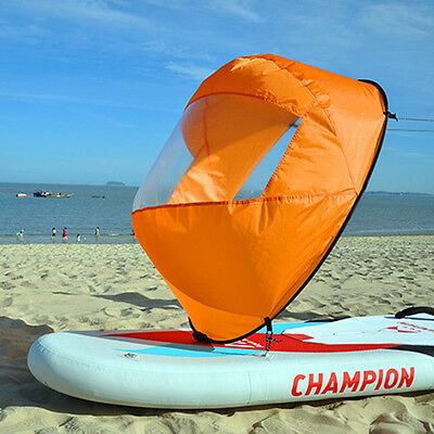 "46"" Folding Downwind Paddle Popup Board Canoe Kayak Sail Wind Sail Accessory"