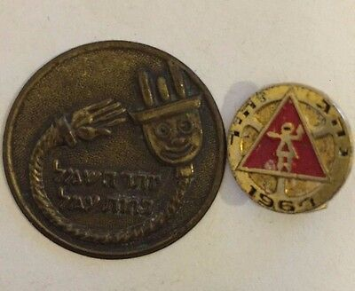 2 Vintage Symbols From the Holy Land- 1964