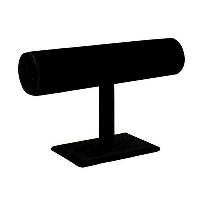 T-shaped velvet display unit for bracelets and watches Black LW