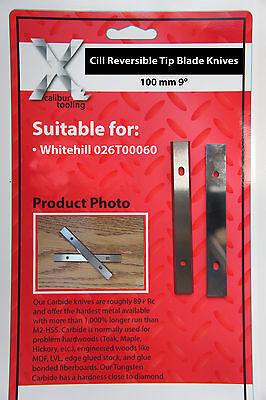 100mm 9 degree Cill Reversible Knives to suit Whitehill 026T00060 1 Pair