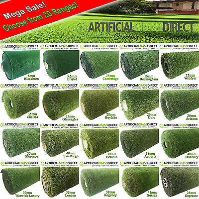 4m x 6m Artificial Grass Quality Fake Garden Lawn Realistic Astro Artifical
