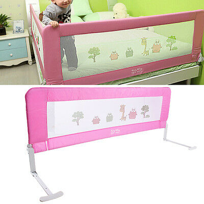 150cm Guard Protection Safety Child Toddler Bed Rail Baby Bedrail Fold Cot Pink