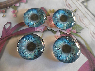 4 Glass Eye Cameo Cabochons Jewellery Making,Model Making,Scrapbooking crafting