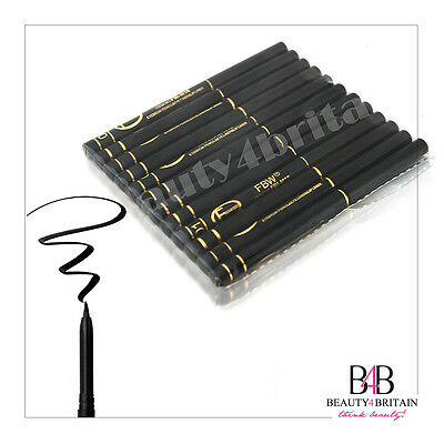 12 x Lidstrich Stifte Schwarz Eyeliner Bleistift Twist-Up Pencil Wasserdicht