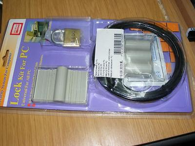 desktop pc or other computer security lock adhesive type universal aircraft stee
