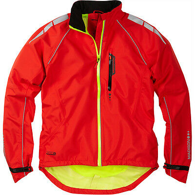 Madison Prime Men's Waterproof Cycling Jacket - Flame Red