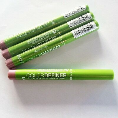 1 PZ MAYBELLINE COLOR DEFINER WATERPROOF STICK OMBRETTO 40 golden rose rosa