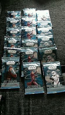 Starwars attack of the clones trading game cards x 18 pkts sealed
