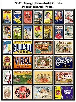 Food & Confectionary - Model Railway Poster Packs - OO Scale 4mm - High Quality
