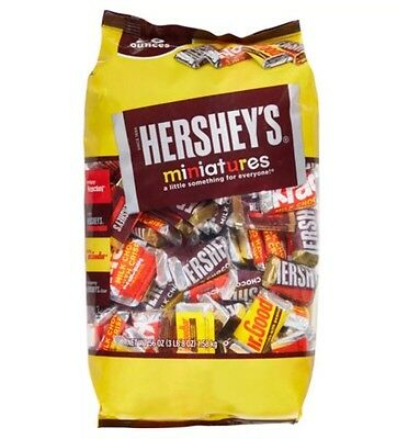 Hershey's Miniatures Assortment 56 Oz Bulk Bag Goodbar Krackel Special Dark