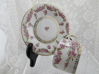 Vintage Charming Demitasse Cup & Saucer~E.S Germany