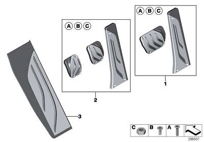BMW Genuine M Performance Stainless Steel Footrest Plate Pad Cover 51472413361