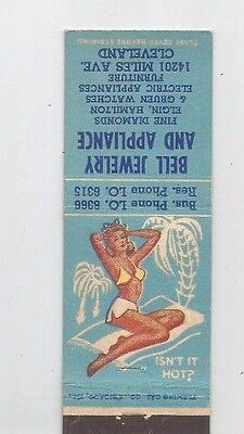 MATCHBOOK COVER Bell Jewelry & Appliance Cleveland Ohio Pinup