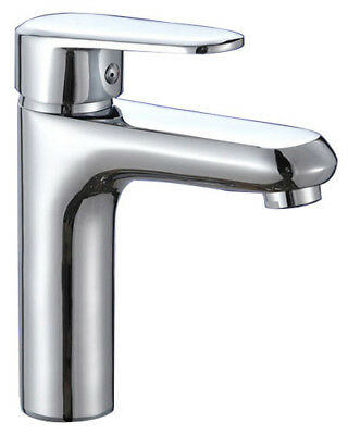 Modern Basin Sink Tap Round Mixer Chrome Monobloc Bathroom Cloakroom -