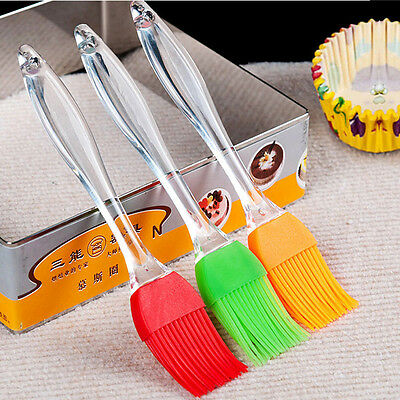 3pcs Baking BBQ Basting Brush Bakeware Pastry Bread Oil Cream Cooking Silicone