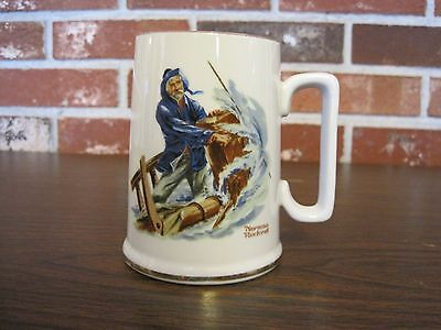 1985 Norman Rockwell Cup / Mug---Braving The Storm