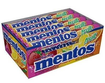 MENTOS FRUIT Box of 15 Rolls 1.32oz  Chewy candy