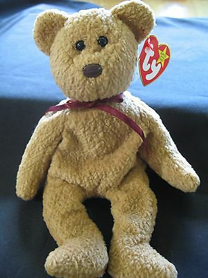 Rare Ty Beanie Babies Baby Curly the Brown Bear 3 mistakes 1993 Retired New MWMT