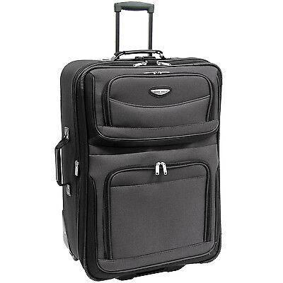 "Travel Select 29"" Gray Amsterdam Rolling Luggage Expandable Wheeled Suitcase Bag"
