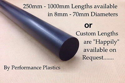 Acetal Pom Delrin Black Rod Round Bar Billet 8-70Mm Diameter Engineering Plastic