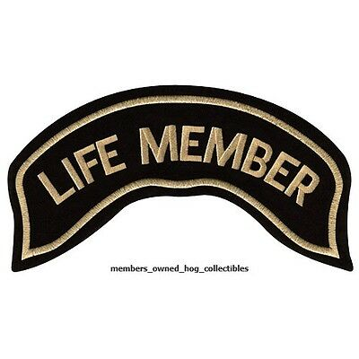"""LIFE MEMBER"" HOG PATCH HARLEY DAVIDSON OWNERS GROUP HD MC supporter"